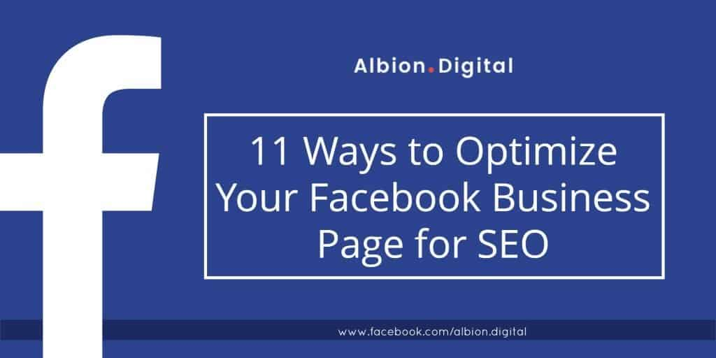 11 Ways to Optimize Your Facebook Business Page for SEO