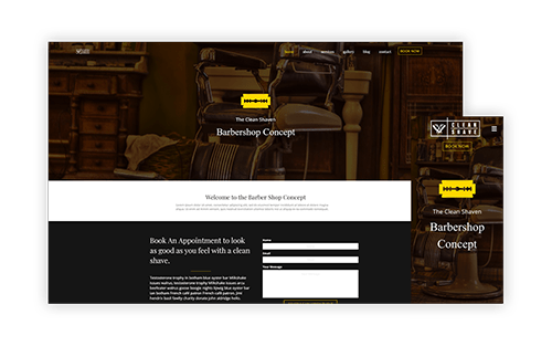 Barbershop WordPress Website Concept Homepage