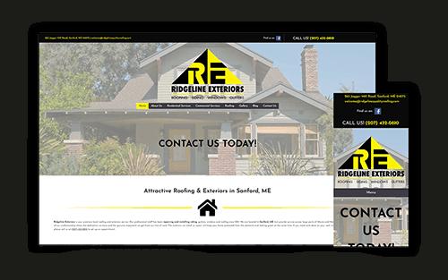 Ridgeline Exterior Roofing Homepage