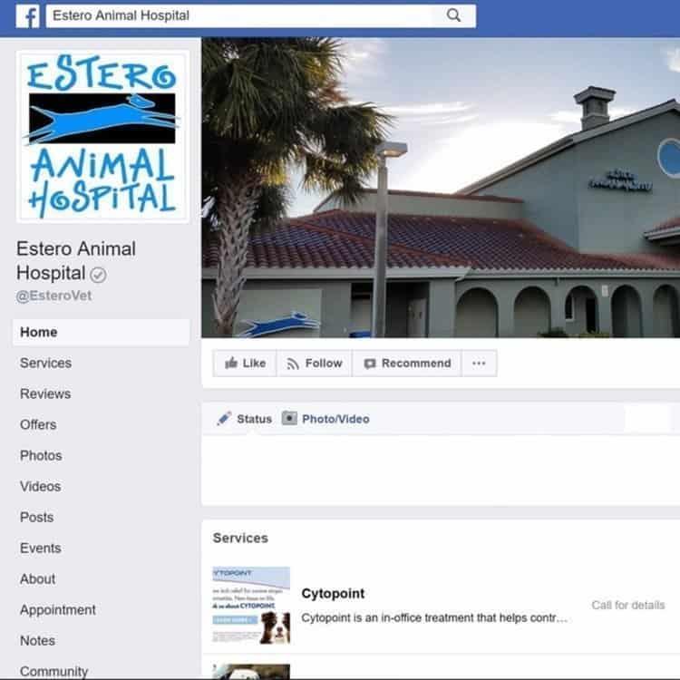 Estero Animal Hospital Facebook Page