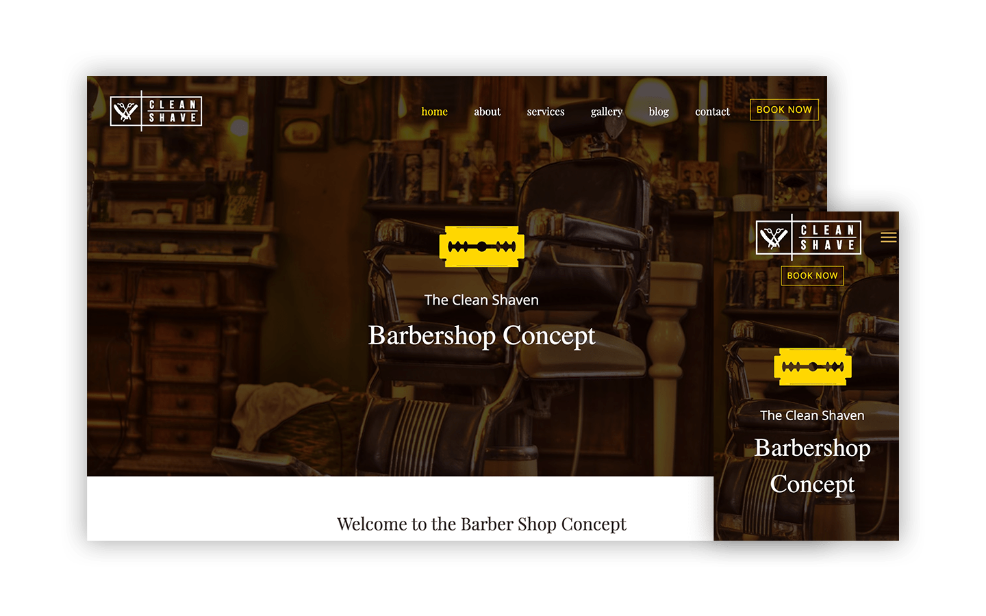 Barbershop Concept Website
