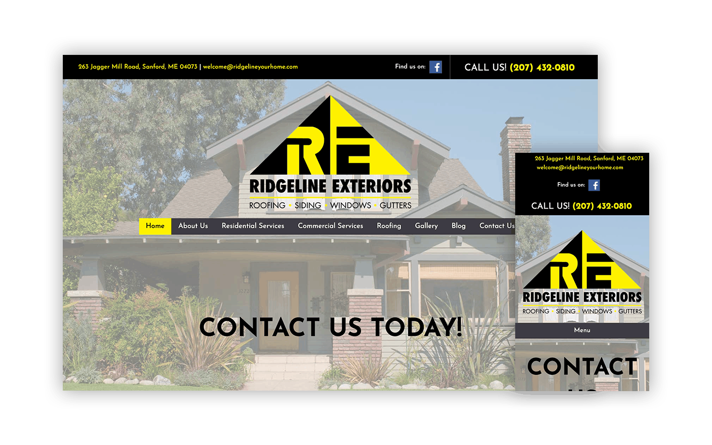 Ridgeline Exteriors Website