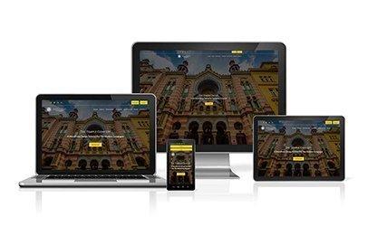Temple Concept Website on Desktop, Tablets and Mobile