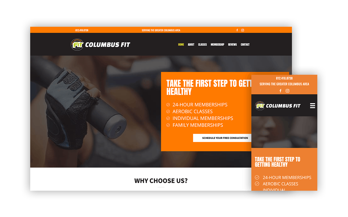 ColumbusFit Custom WordPress Website